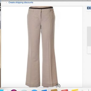 EXPRESS Editor contrast Piping Beige Flare Pants